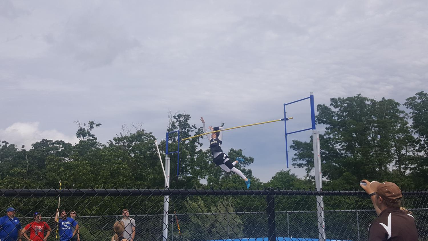 Nicole Barton took first place in pole vault on Saturday at Hillsboro.