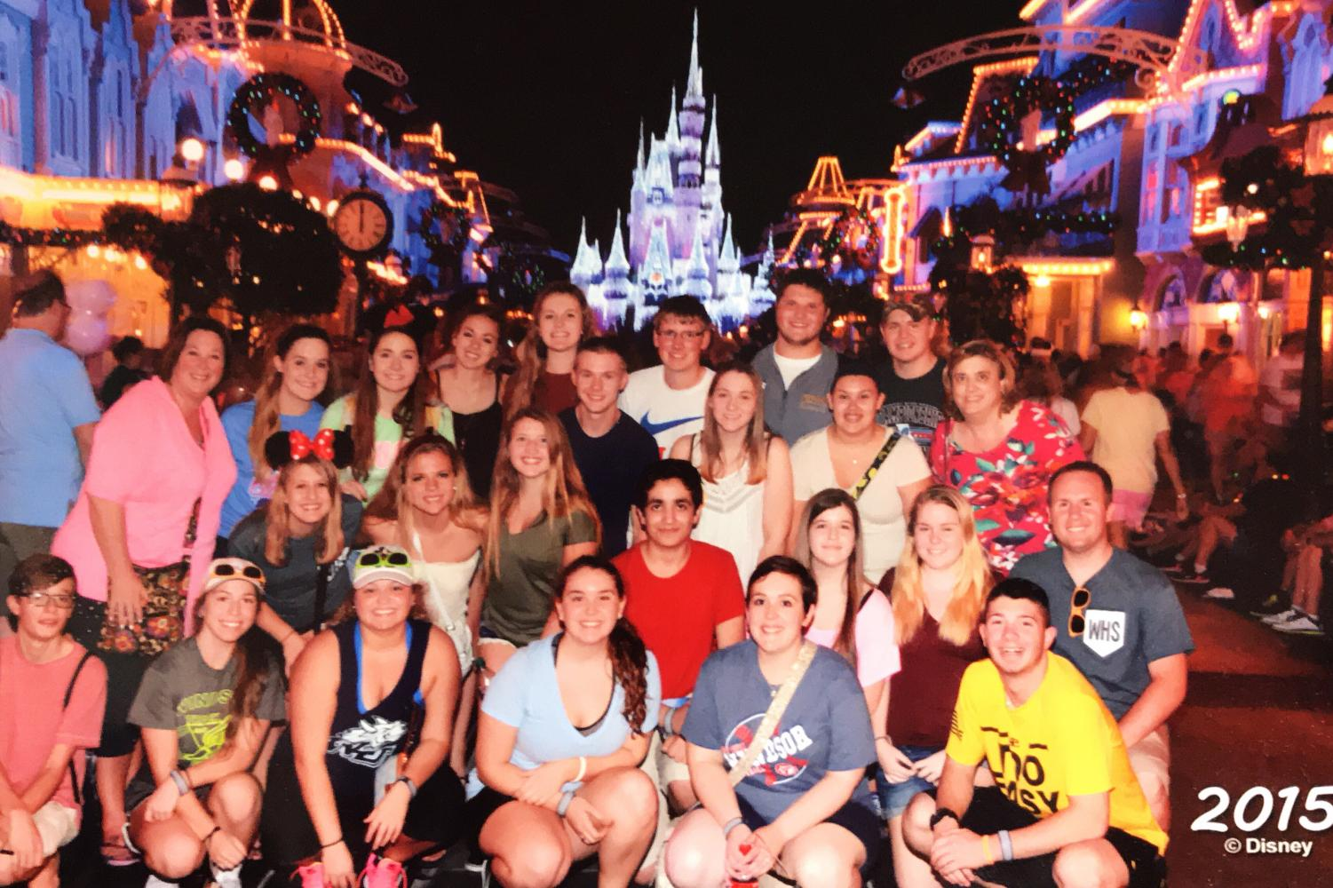 The yearbook and newspaper staffs went to Disney World in 2015.
