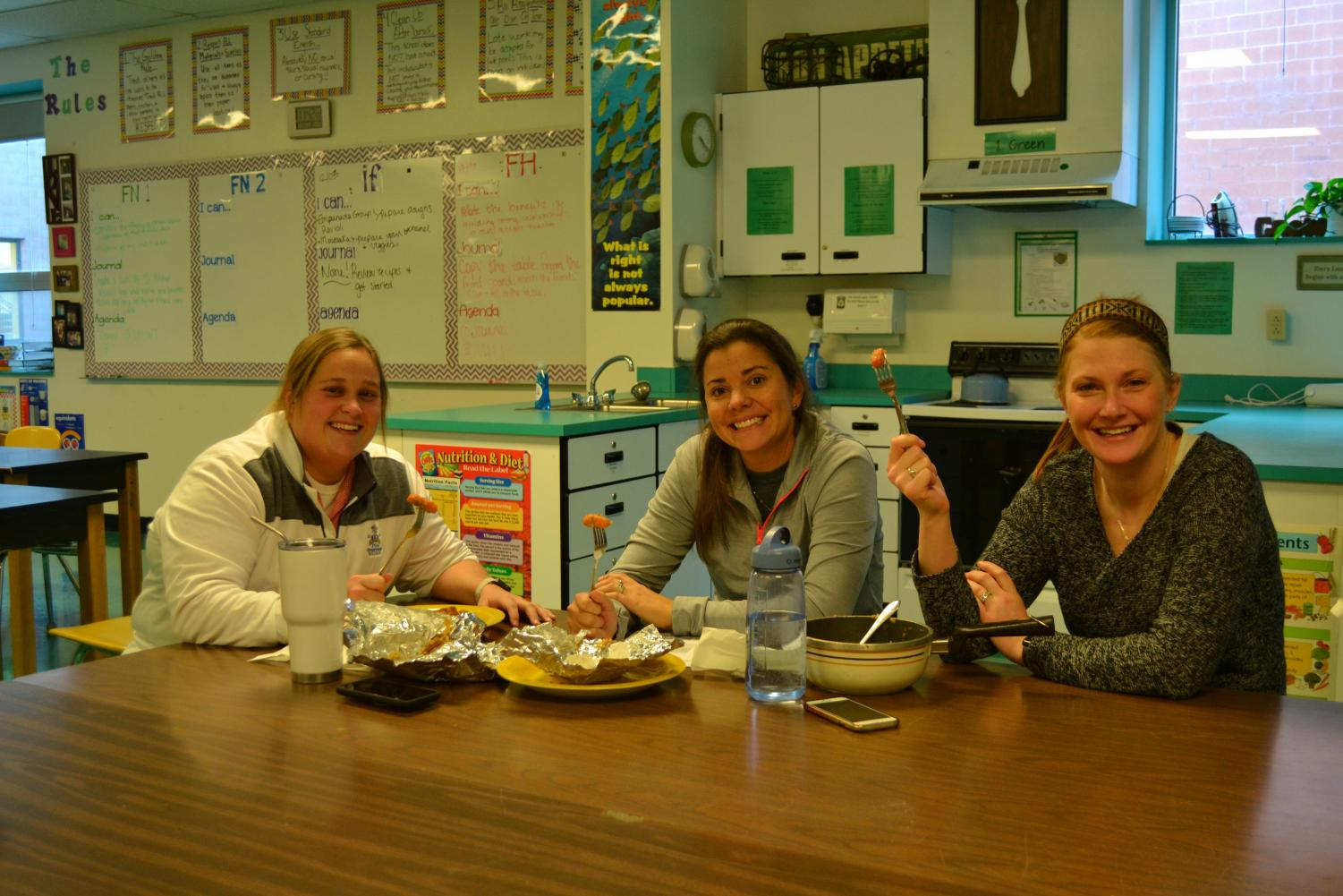 Jamie Kovach, Kim Schmidt, and Casey Willenbrock have formed a bond while working at Windsor.