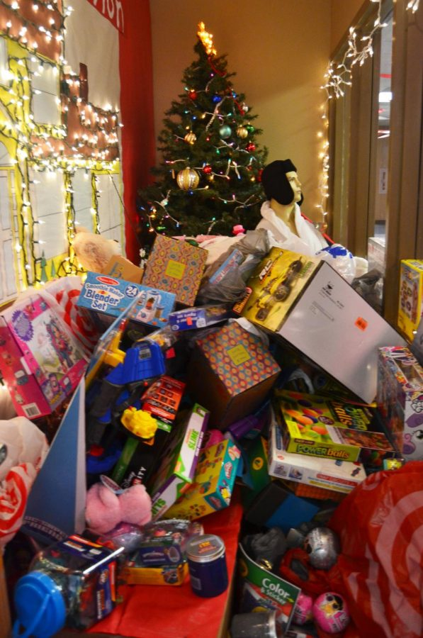 Toys are piling in this year during the DECA toy drive.