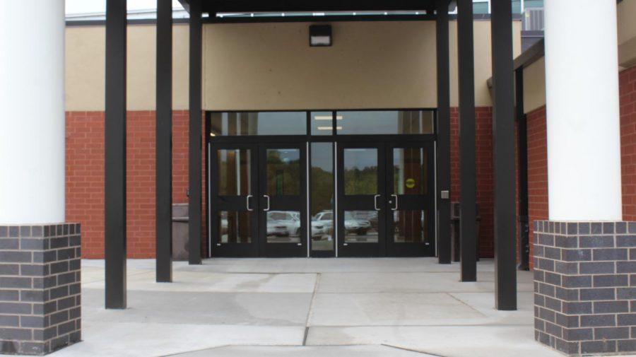 The+entrance+should+make+the+school+safer.+