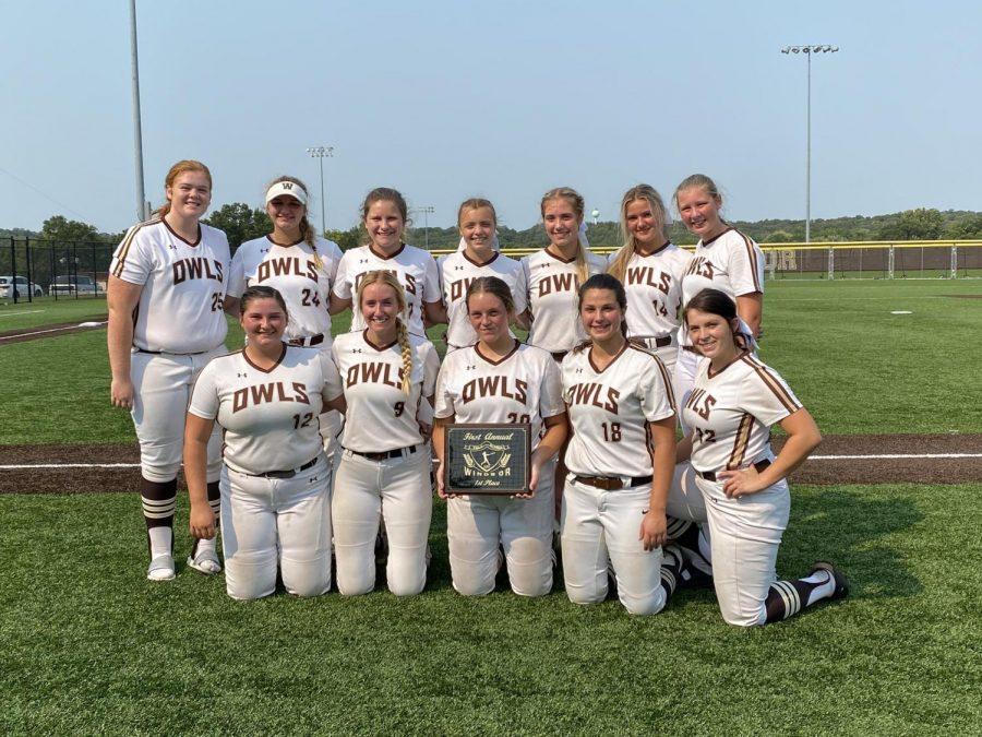 The softball team won their own tournament this season.